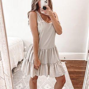 L'AGENCE Ruffle Hem Sleeveless Tiered Dress Size 4